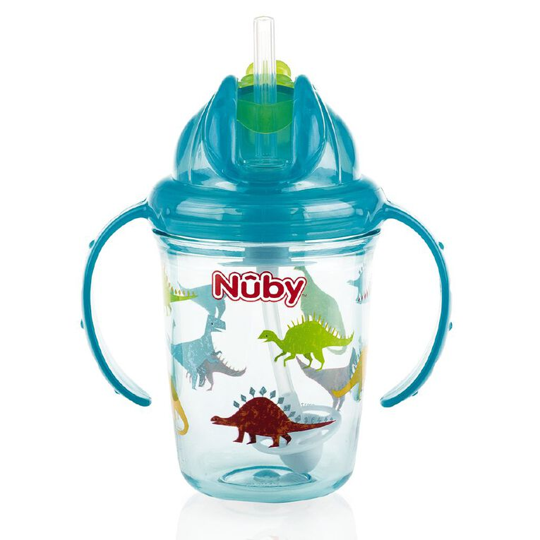 Nuby Tritan Flip it with Weighted Straw 240ml, , hi-res