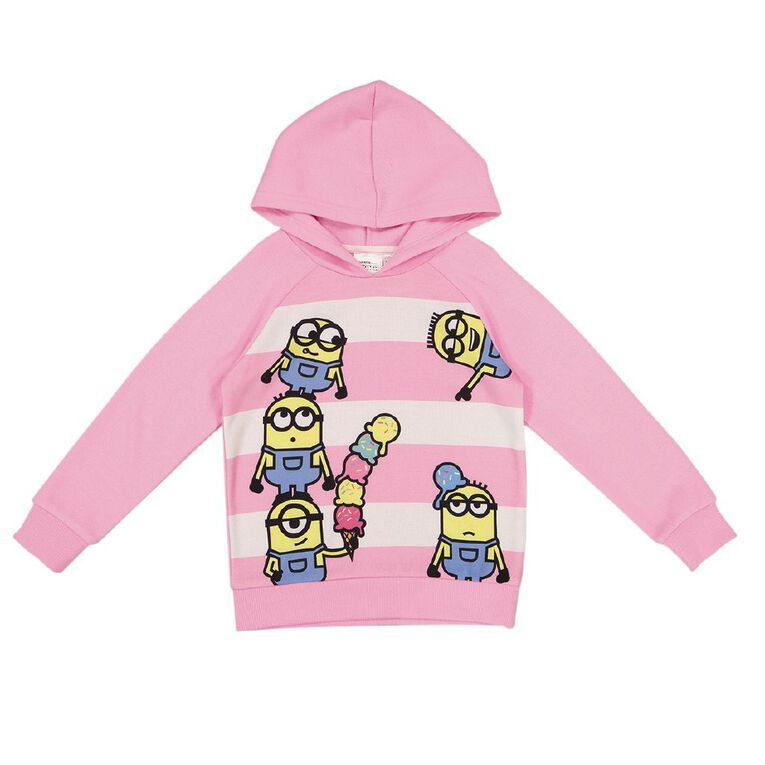 Minions Girls' Hoodie Sweat, Pink Mid, hi-res