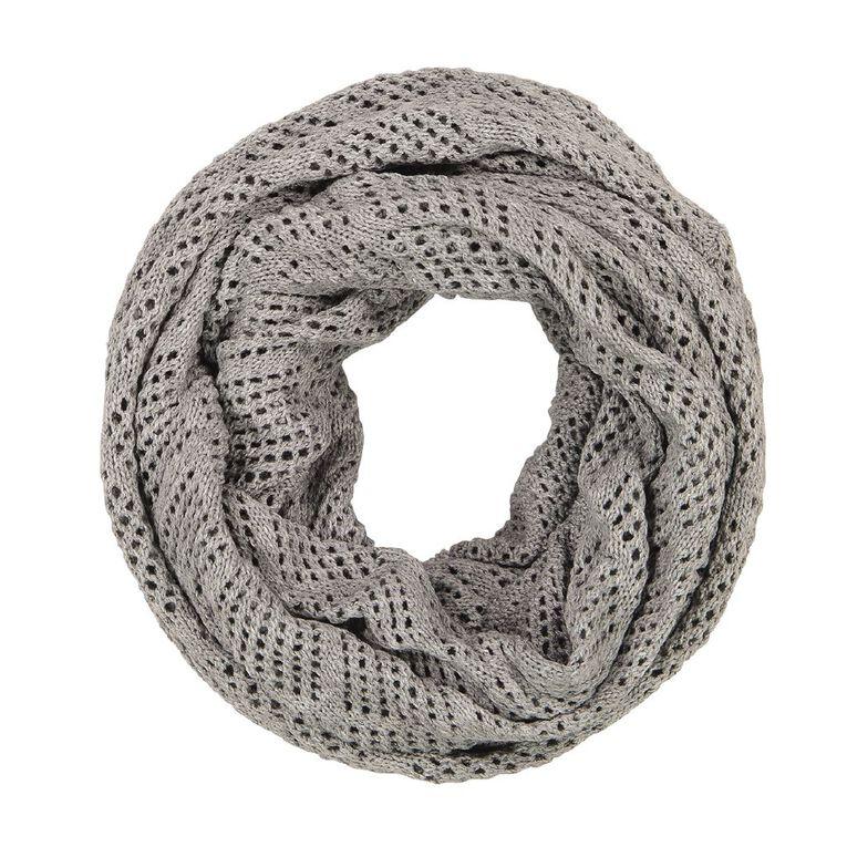 H&H Diamond Knit Snood, Grey Light, hi-res