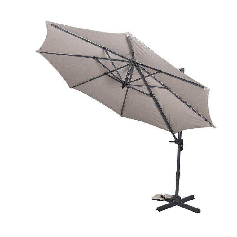 Living & Co Deluxe Hanging Umbrella 3m Grey, , hi-res