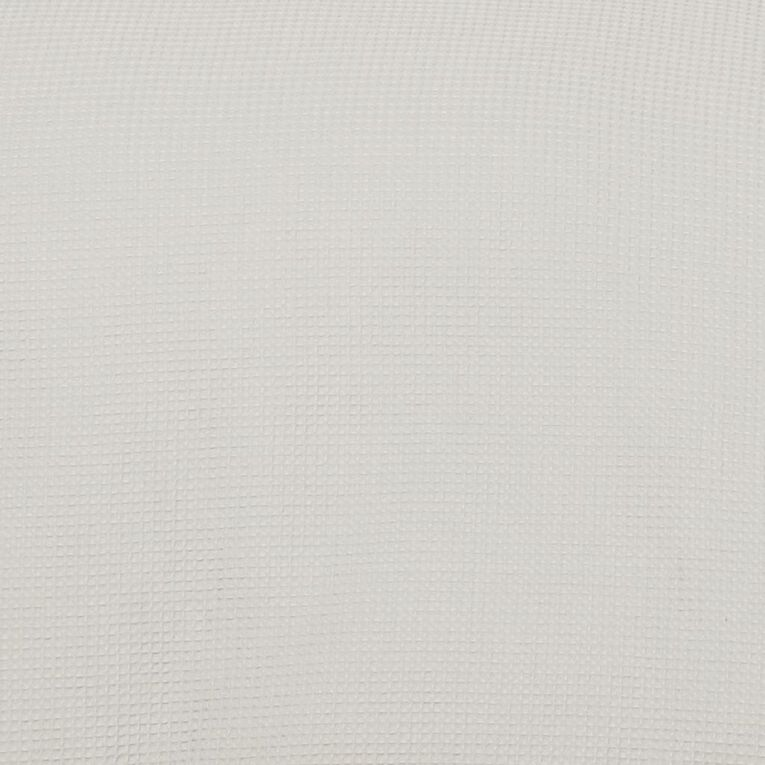 Living & Co Duvet Cover Set Luxury Waffle Grey Single, Grey, hi-res