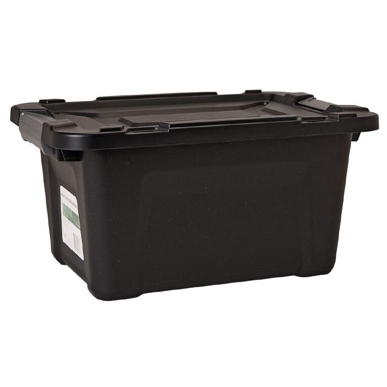 Living & Co Heavy Duty Storage Box Black 55L, , hi-res image number null