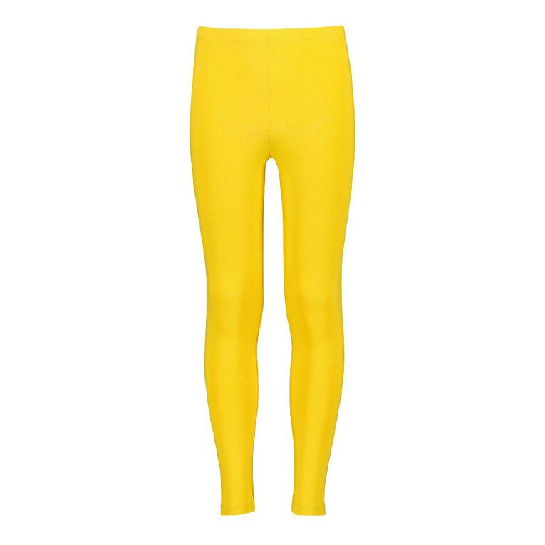 Young Original Girls' Coloured Leggings, Yellow Mid, hi-res image number null