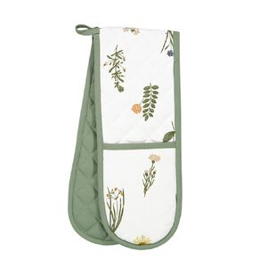 Living & Co Double Oven Glove Herb 90cm x 17cm