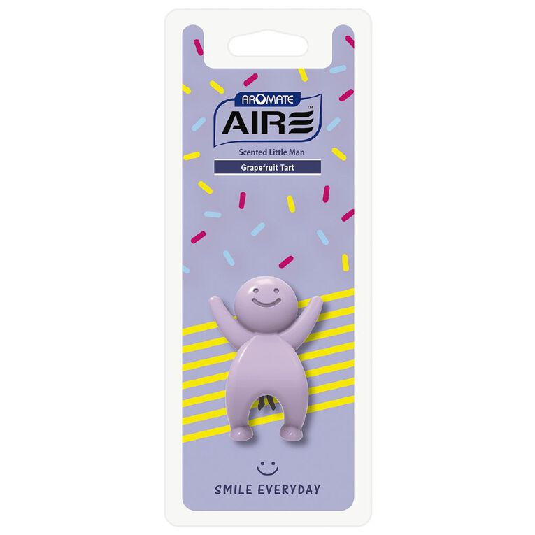 Aromate Grapefruit Tart Scented Little Man Auto Air Freshener, , hi-res