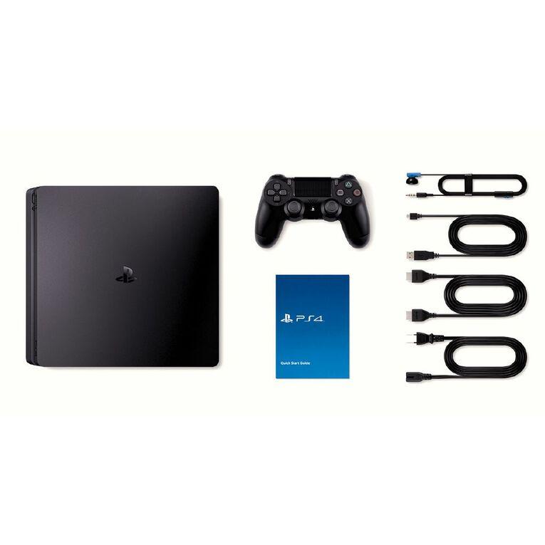 PS4 Console Slimline 500GB Black, , hi-res