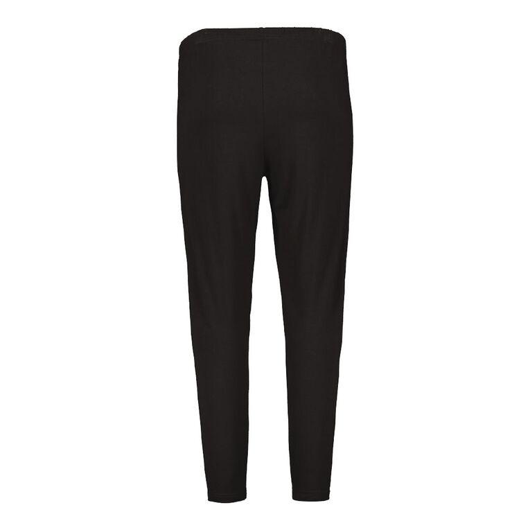 H&H Plus Plus Long Leggings, Black, hi-res
