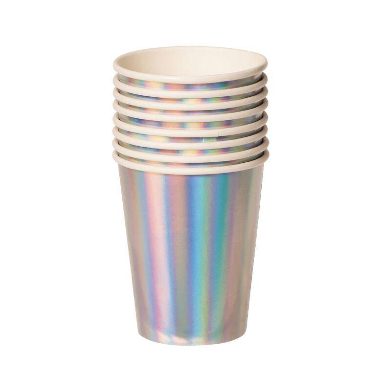 Party Inc Paper Cups Iridescent 8 Pack, , hi-res