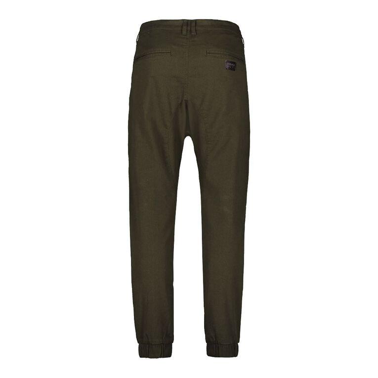 Garage Men's Cuffed Moto Panel Chino Pants, Khaki, hi-res