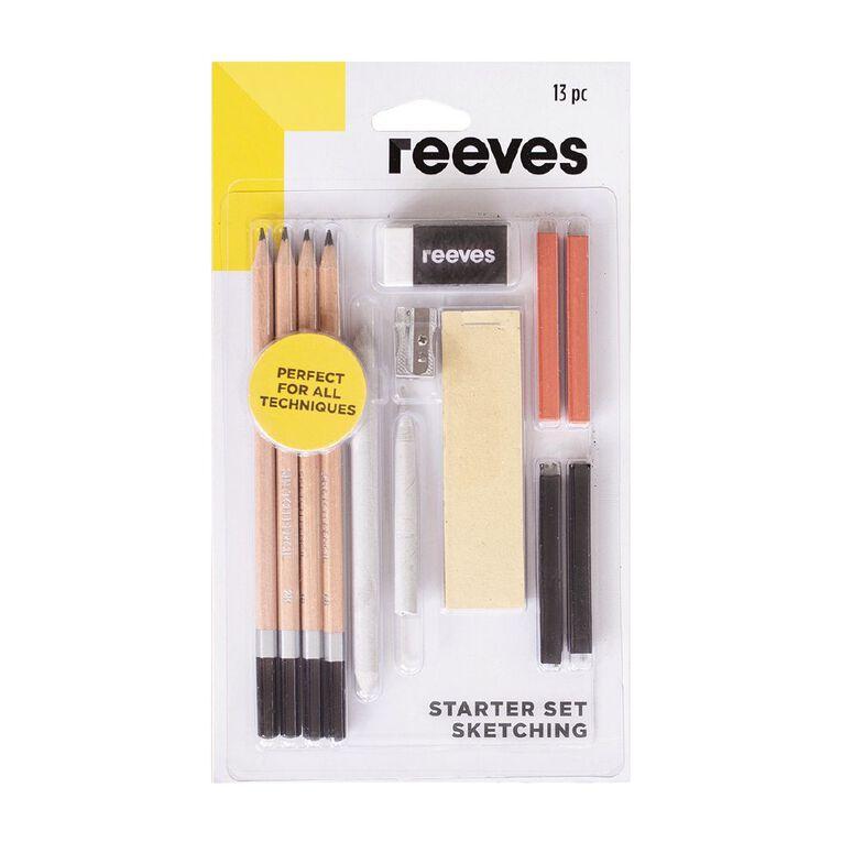 Reeves Sketching Starter Set 13 Piece, , hi-res