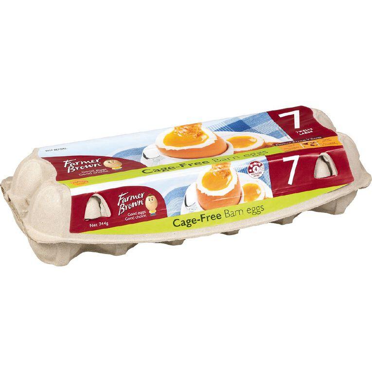 Farmer Brown Barn Grade 7 Eggs 12 PK, , hi-res