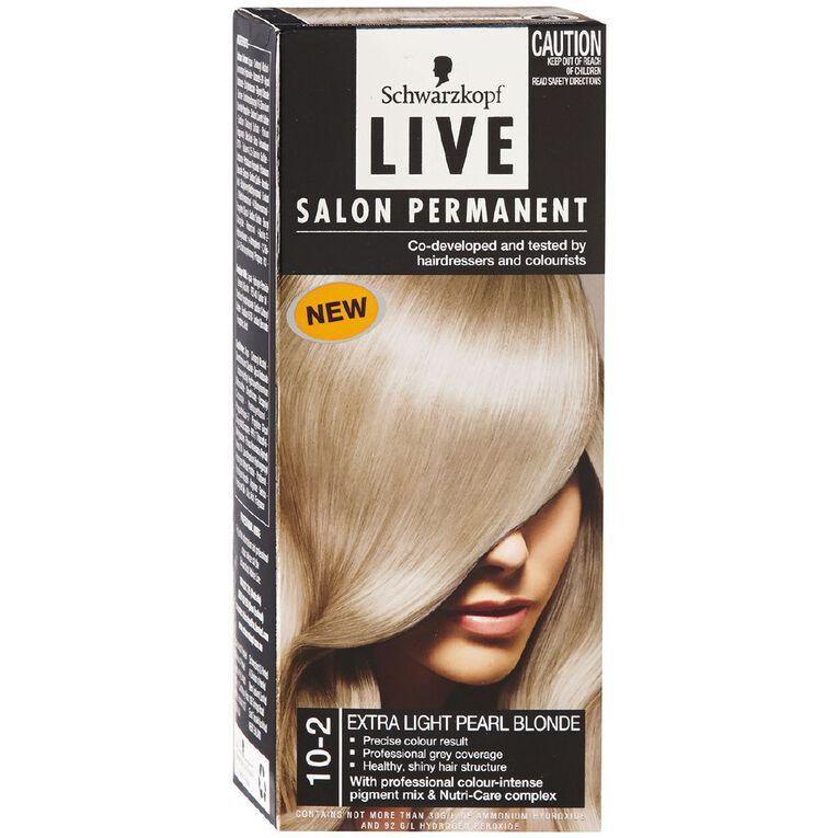 Schwarzkopf Live Salon Permanent 10-2 Extra Light Pearl Blonde, , hi-res