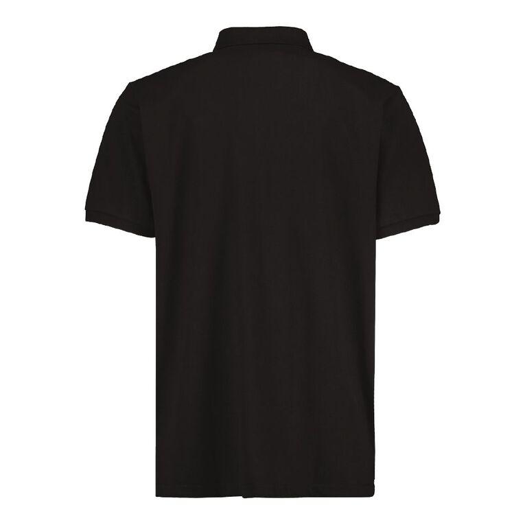 H&H Men's Plain Pocket Polo, Black, hi-res