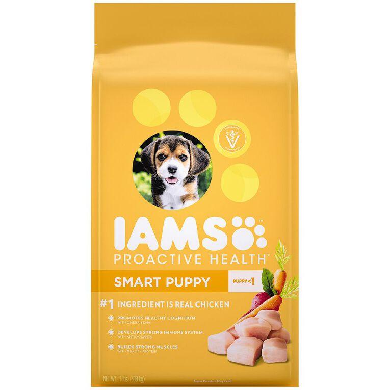 Iams Proactive Health Smart Puppy Dry Dog Food Chicken 3.18kg Bag, , hi-res