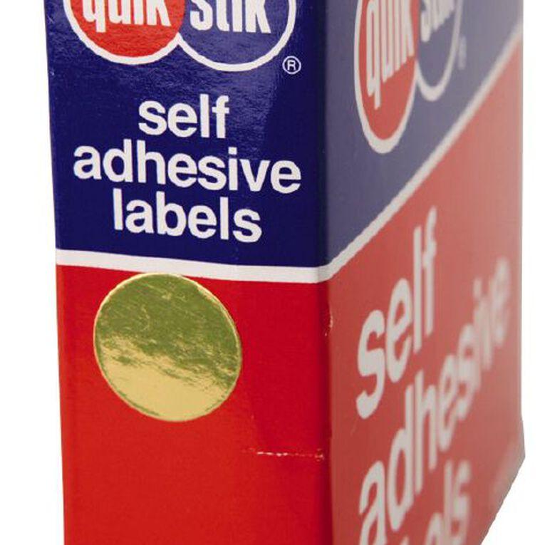 Quik Stik Labels Dots Mc14 650 Pack Gold, , hi-res image number null