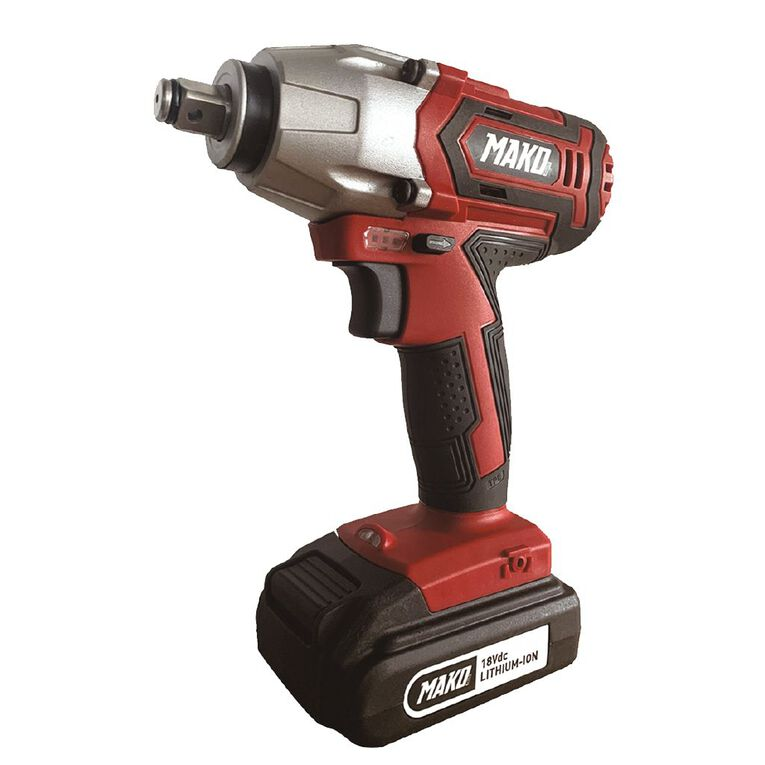 Mako Mako 18V Impact Wrench with 2.0ah Battery and charger, , hi-res