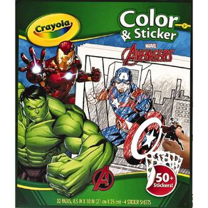 Crayola Color & Sticker Book Marvel Avengers