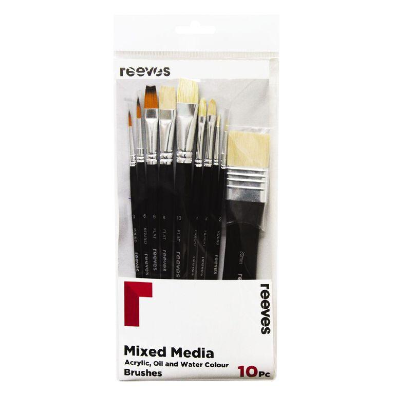 Reeves Mixed Media Brush Set of 10, , hi-res