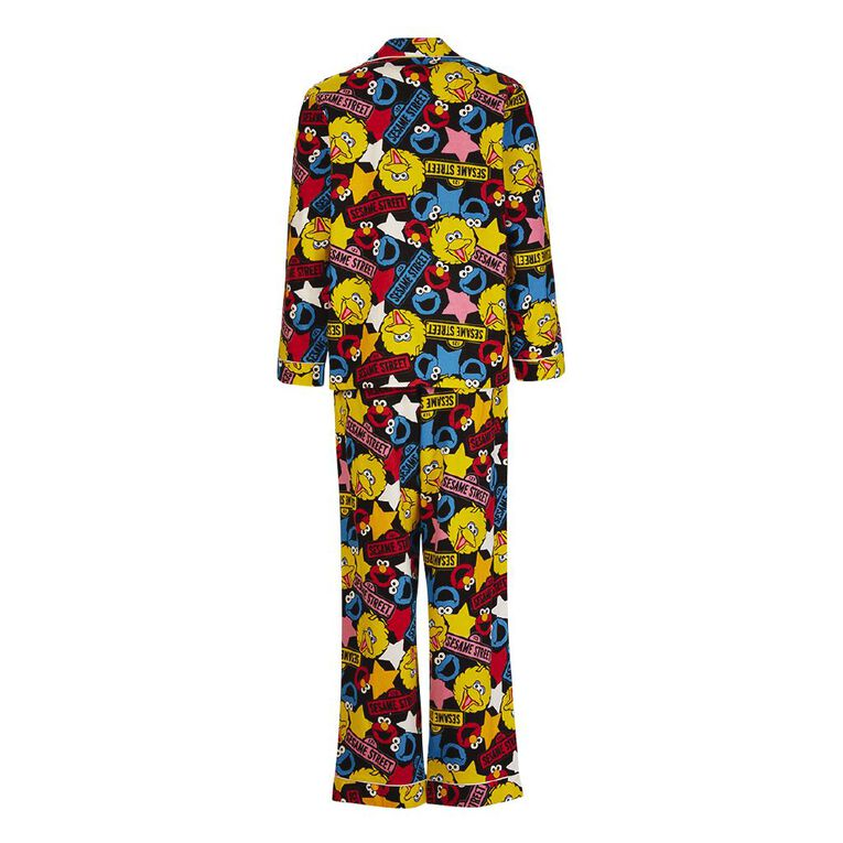 Sesame Street Women's Flannalette Pyjama Set, Black, hi-res