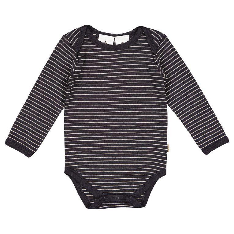 Young Original Baby Merino Bodysuit, Grey Dark, hi-res