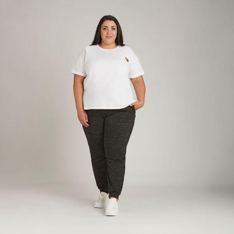 H&H Plus Women's Boyfriend Print Tee, White, hi-res image number null