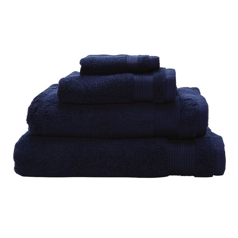 Living & Co Hotel Collection Spa Towel Navy 90cm x 150cm, Navy, hi-res