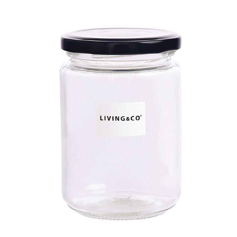 Living & Co Preserving Jar Clear 300ml, , hi-res