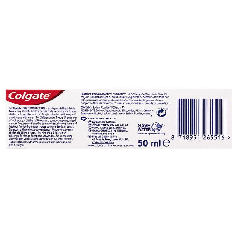 Colgate Kids Toothpaste 0-2 Years 50ml, , hi-res