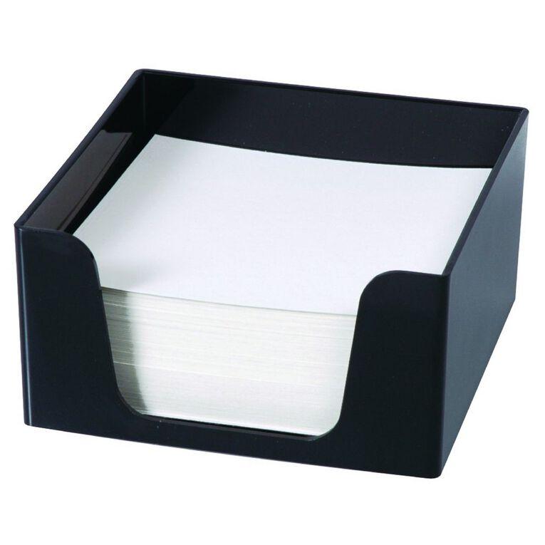 Esselte Sws Plastic Memo Cube & 500 Sheets Black, , hi-res