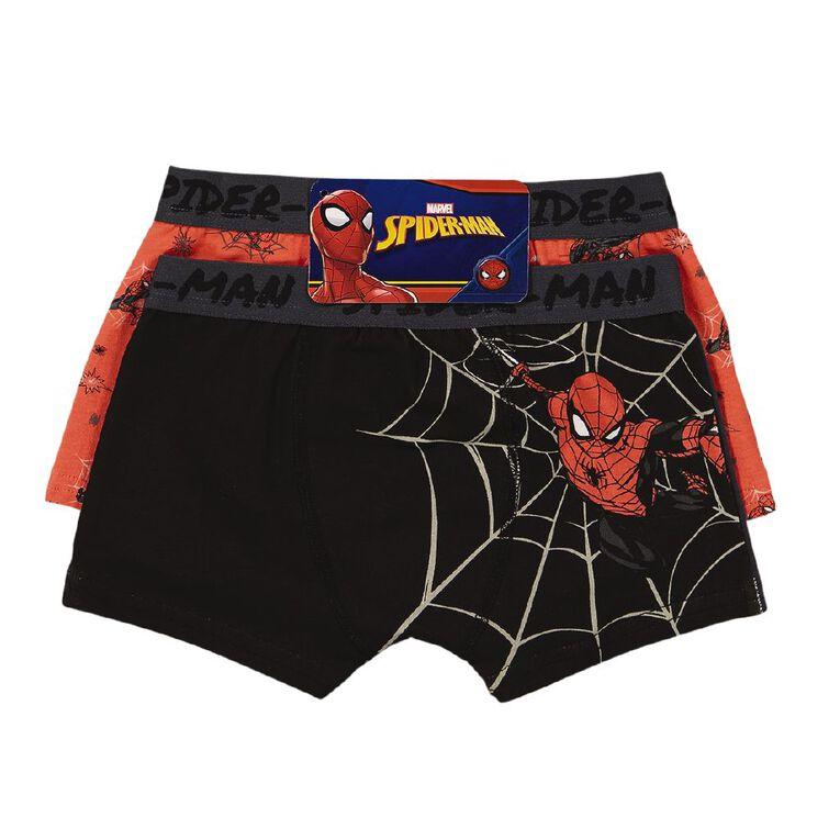 Spider-Man Kids' 2 Pack Trunks, Black, hi-res