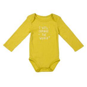 Young Original Baby Long Sleeve Printed Bodysuit