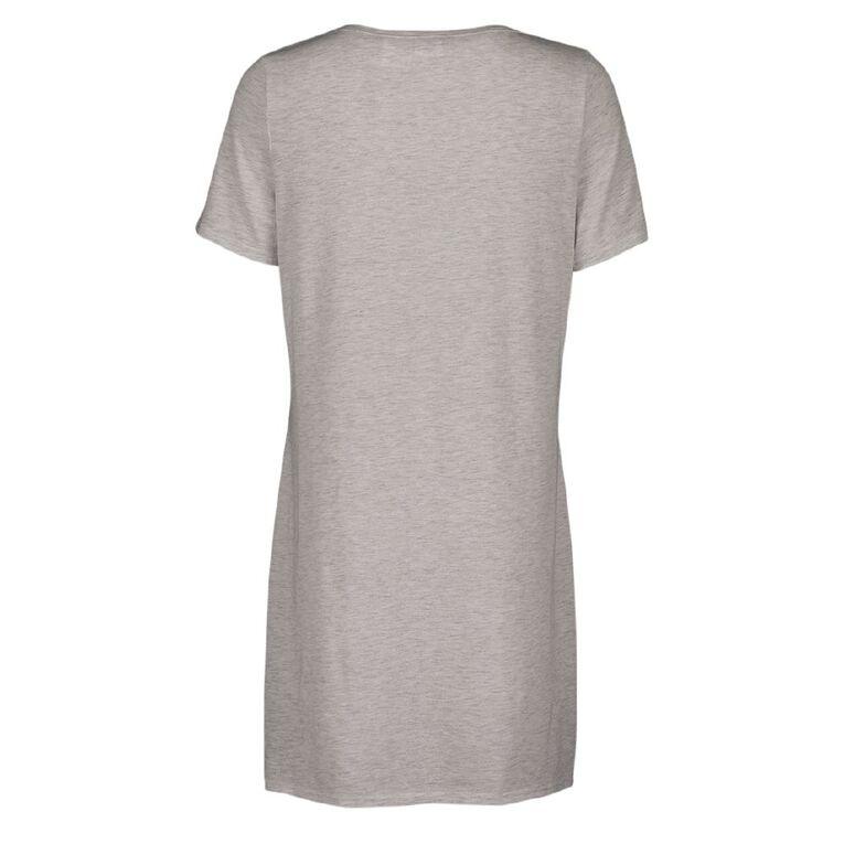 Eeyore Disney Women's Short Sleeves Nightie, Grey Light, hi-res