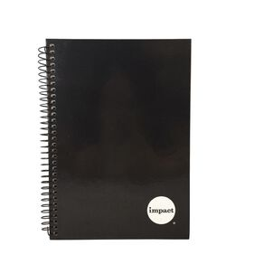 WS Notebook Wiro 200 Pages Hard back Black A5