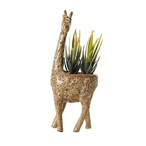 Living & Co Artificial Succulent in Giraffe 12cm x 26cm Brown
