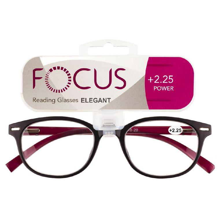 Focus Reading Glasses Elegant Power 2.25, , hi-res