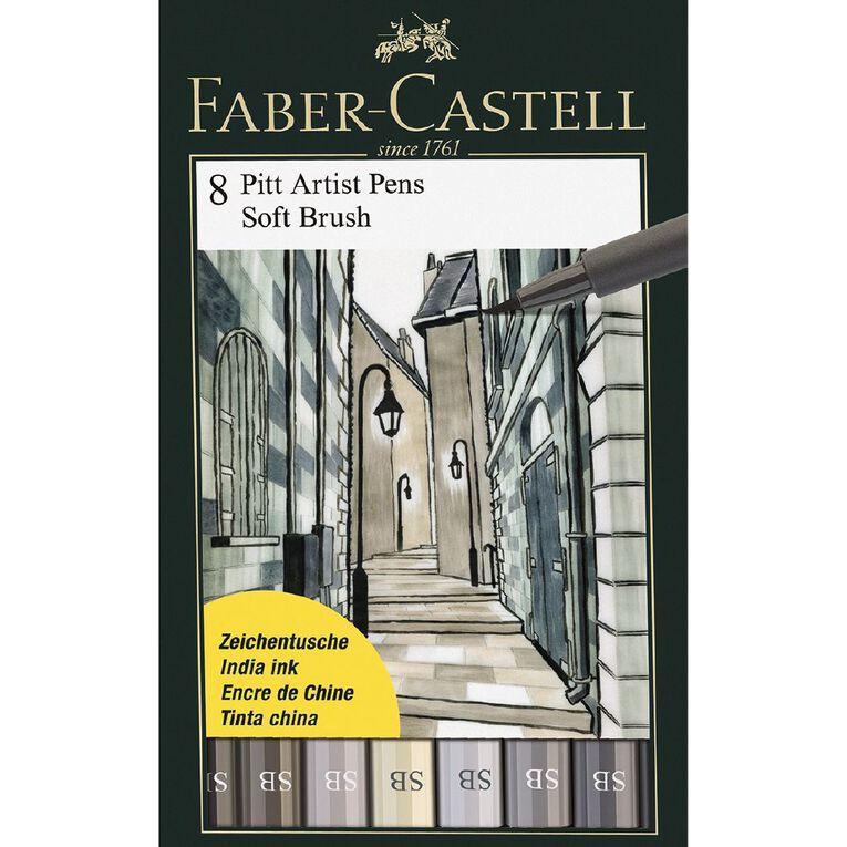 Faber-Castell Pitt Artist Brush Pens Soft 8 Pack, , hi-res