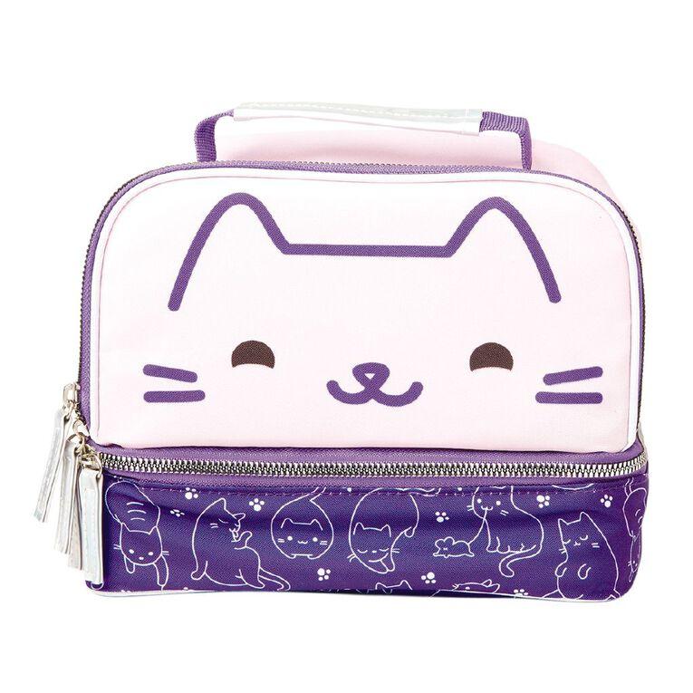 Living & Co Double Decker Kids Lunch Bag Cat, , hi-res