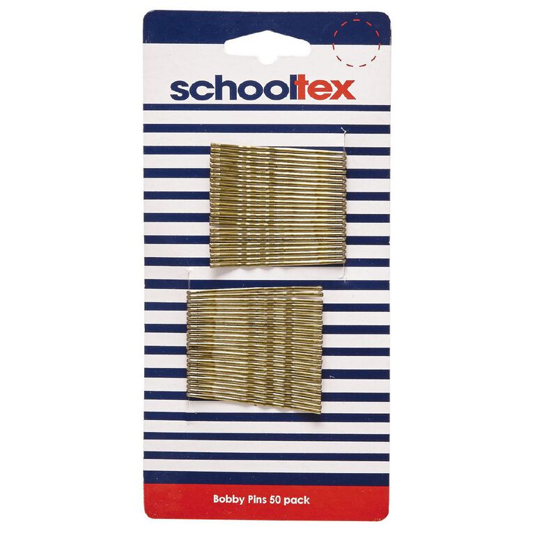 Schooltex Bobby Pins Blonde 50 Pack, , hi-res