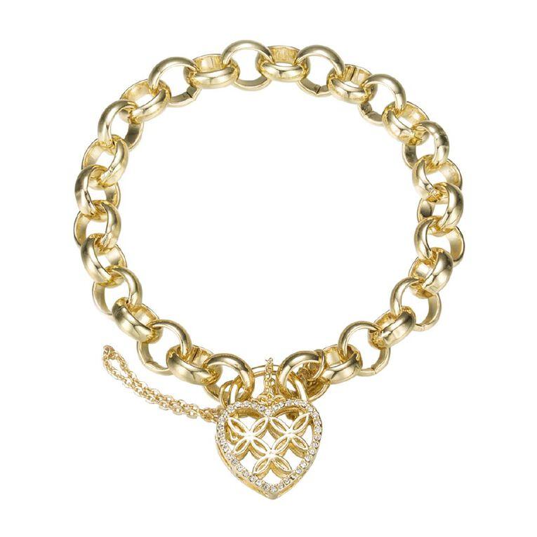 Mestige Crystals from Swarovski' Sweetheart Bracelet in Gold, , hi-res