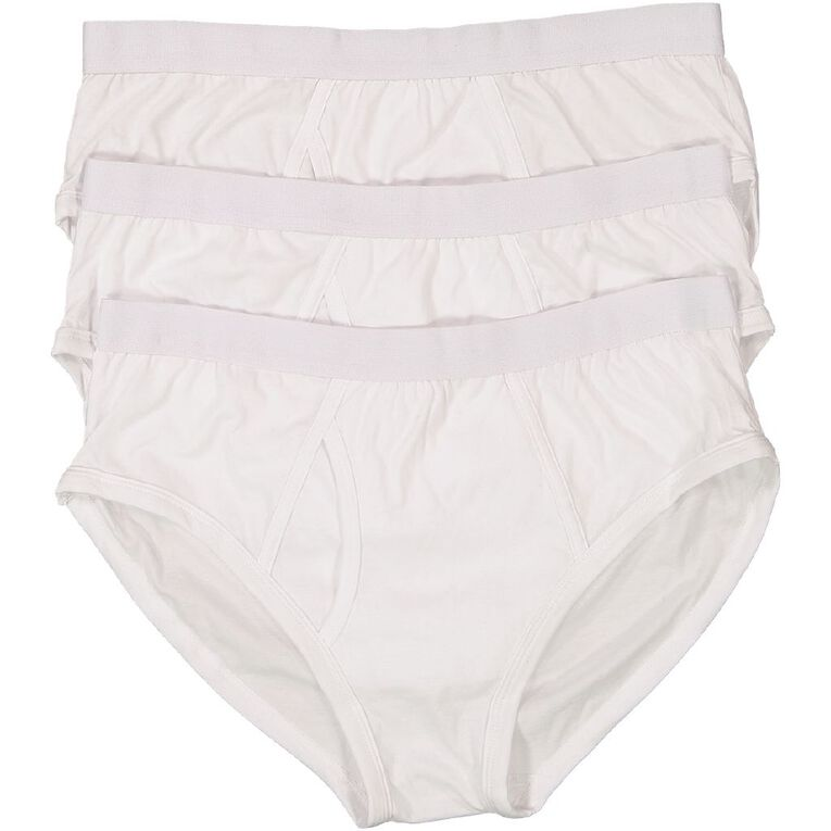 H&H Men's A-Front Classic Briefs 3 Pack, White, hi-res image number null