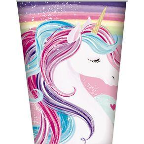 Artwrap Unicorn Paper Cups 250ml 8 Pack