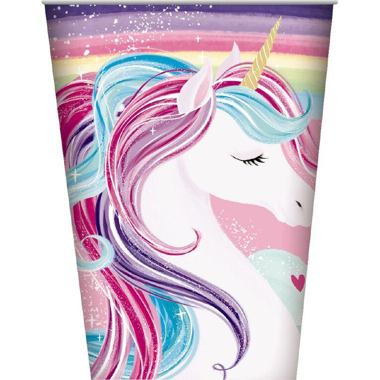 Artwrap Unicorn Paper Cups 250ml 8 Pack, , hi-res