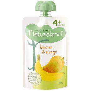 Natureland Banana and Mango Pouch 120g