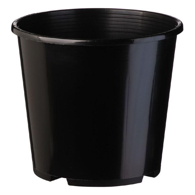 IP Plastics Pot Round 23cm Black 6L, , hi-res