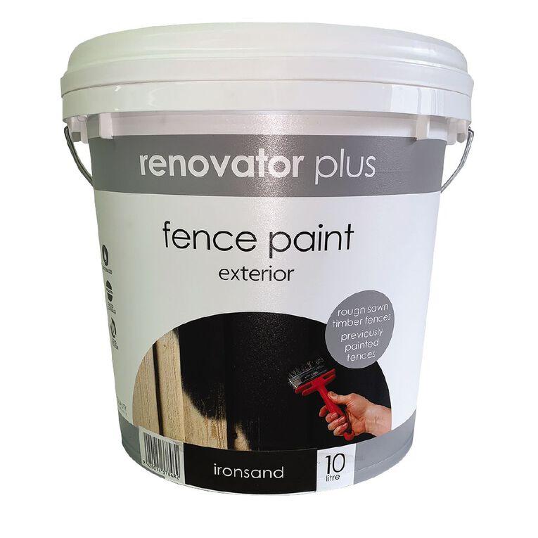 Renovator Plus Fence Paint Ironsand 10L, , hi-res