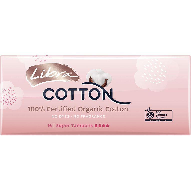 Libra Cotton Tampons Super 16 Pack, , hi-res