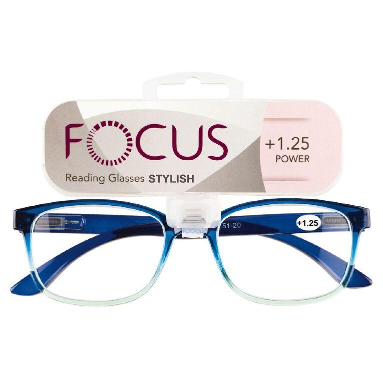 Focus Reading Glasses Stylish Power 1.25, , hi-res