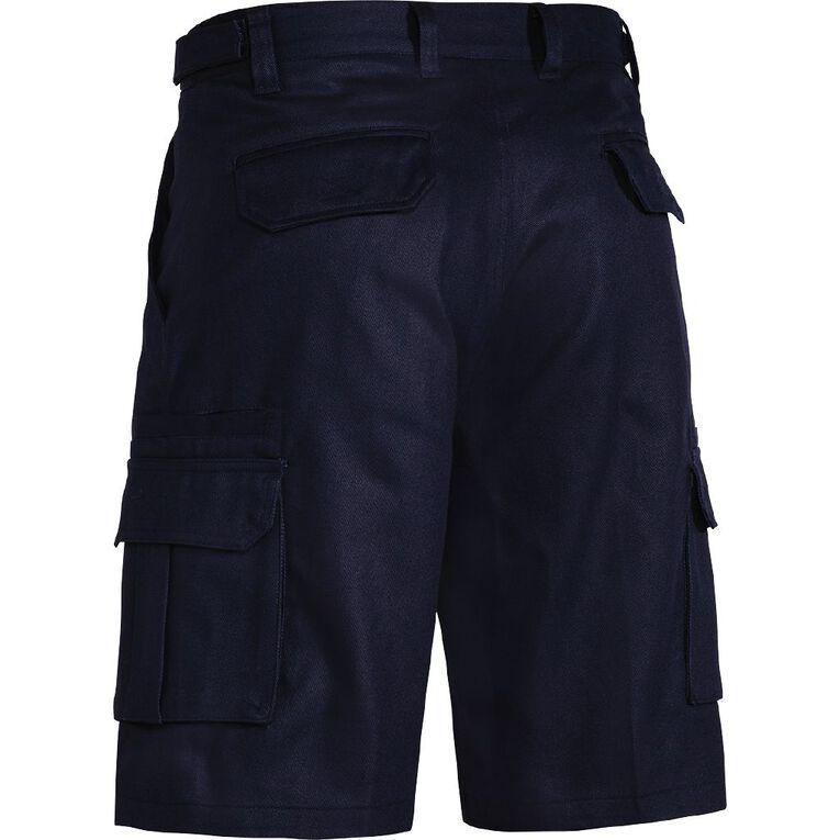 Bisley Workwear Cargo Shorts, Navy, hi-res