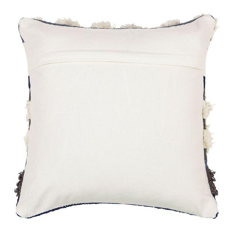 Living & Co Luxe Tufted Circle Cushion Blue/Grey 45cm x 45cm, Blue/Grey, hi-res