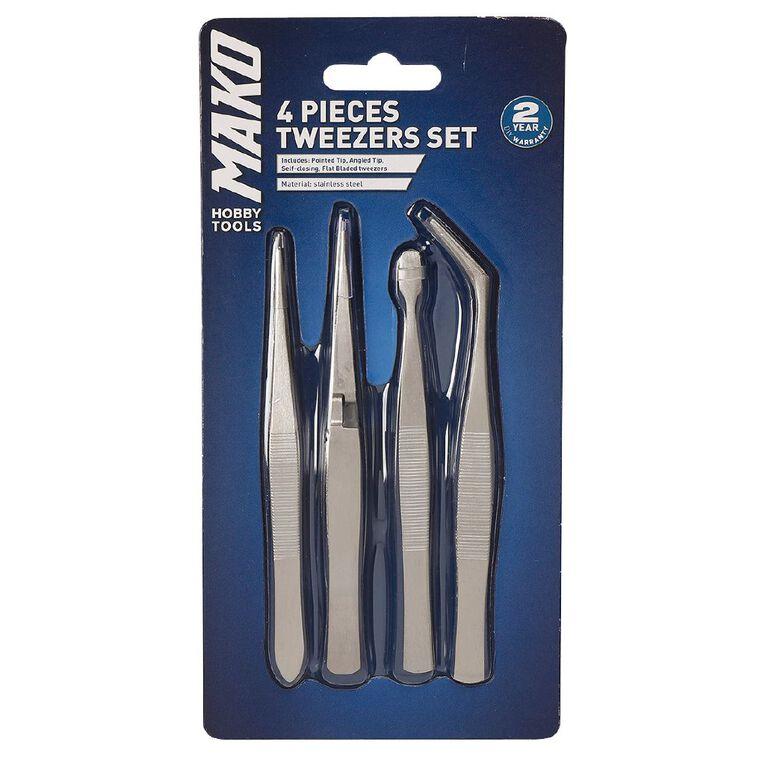 Mako Tweezers 4 piece Set, , hi-res